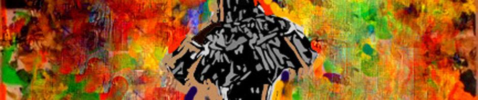 Dancer on Savannahs, Mixing Paint and Photos